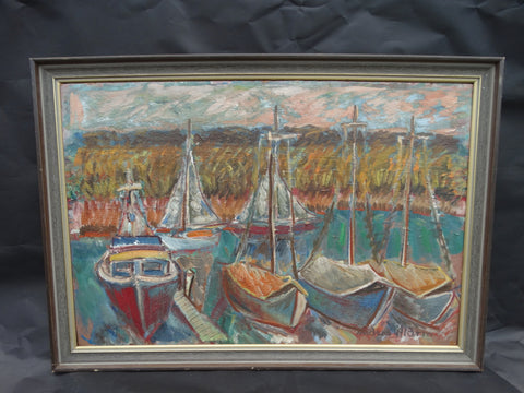 Anders Aldrin: Sailboats in Harbor, 1962