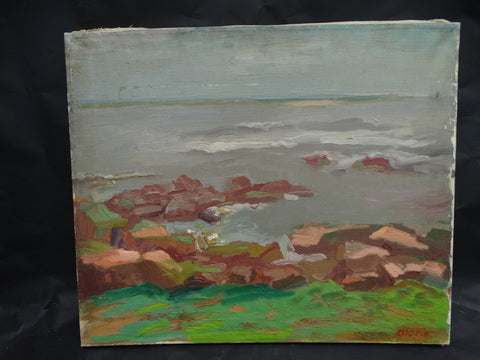 Anders Aldrin: Rocks Along Shore, 1944