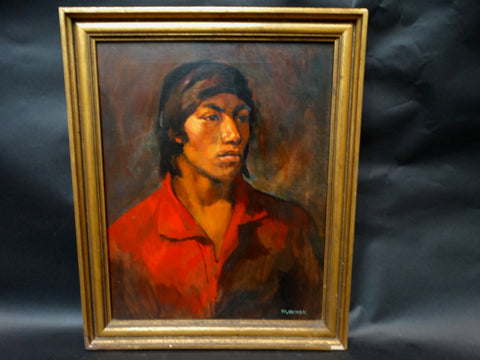 Klocker: Portrait of a Young Native American Boy