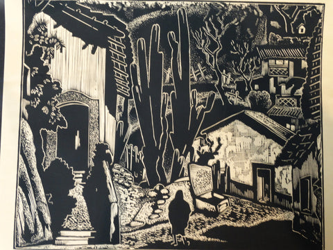 Carl Pappe Block Print of Taxco #2