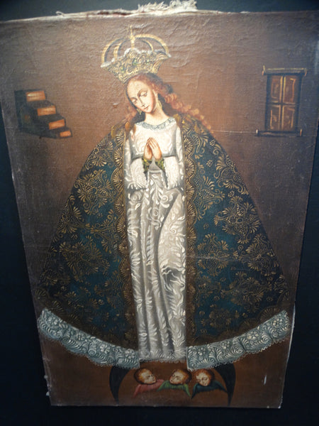 19th Century Peruvian Guadalupe Painting