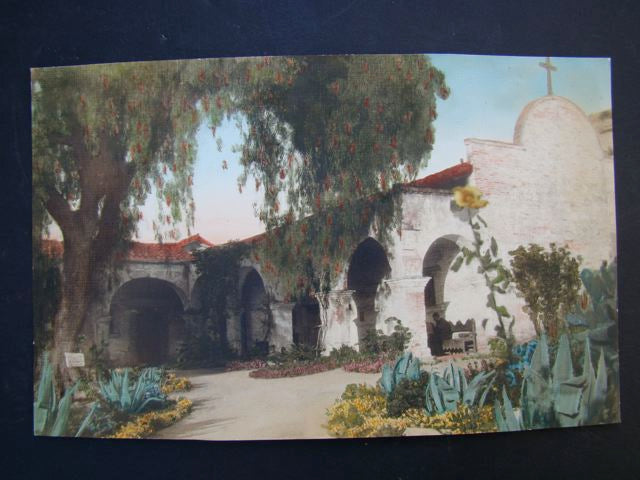 California Mission tinted photograph