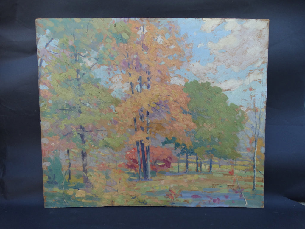 California Autumn Landscape #1 unsigned oil on art board