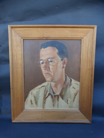 Oil Portrait of a young (and high-ranking) Medical Officer 1949