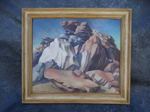 Stanley Edwards (1899-1981) - California Rock Formation - Oil on Board 1938