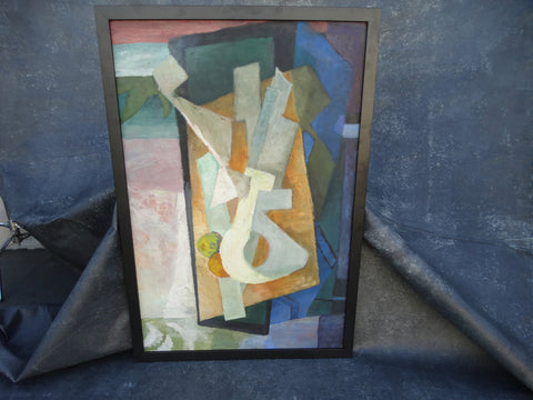 Jorgen Hansen Abstract 1960 Oil on Board