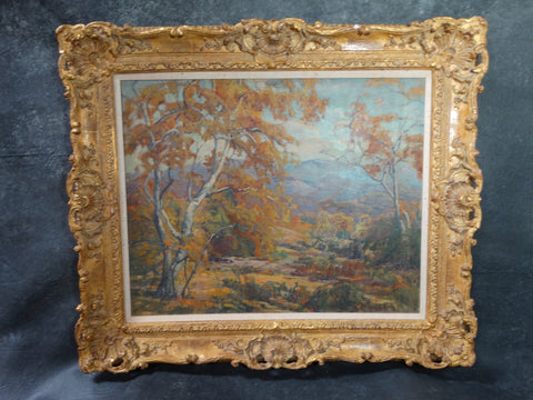 Marie Boening Kendall -Autumn Sycamores - c 1930 - Oil on Canvas