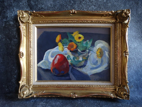 Mabel Alvarez - Still Life - Oil On Board c 1940s P2577