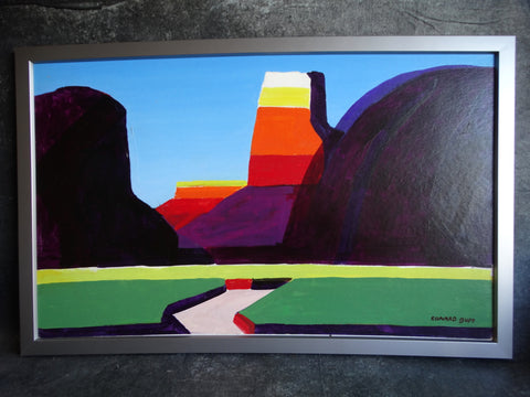 Conrad Buff - Monument Valley - Oil on Board P2579