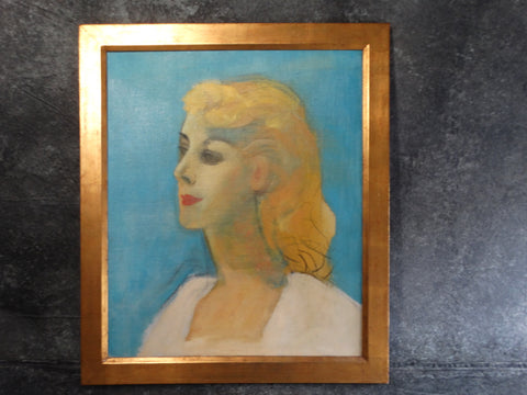 Channing Peake - Portrait of His Mistress - My Beautiful Linda 1959 - Oil on Canvas P2605