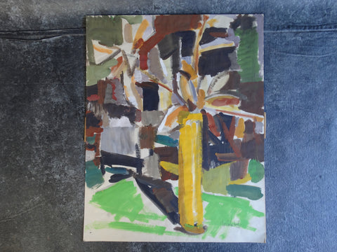 Jae Carmichael Modernist Still Life - Oil on Paper - P2618