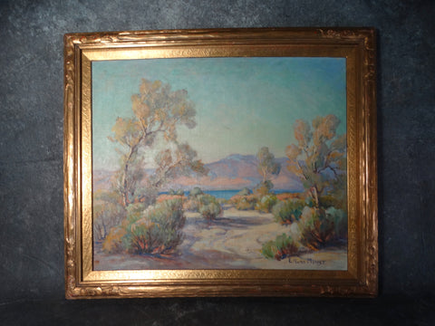 Evylena Nunn (E. Nunn) Miller) - Smoke Trees Near Salton Sea - 1925 - Oil on Canvas P2634