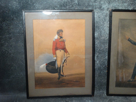Denis Dighton (1792 - 1827) British Officer in Red Coat - Watercolor - P2639