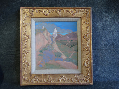 Don Burgess Desert Mountain-scape - Oil on Board c 1980 P2644