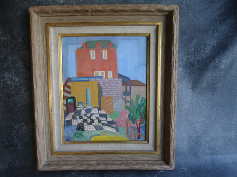 John Burnside Tufts - Virginia City Walls - Oil on Board - 1941  P2662