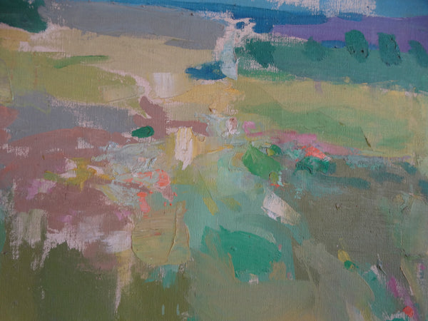 Anthony (Tony) Ivins - Wet Grass - Oil on Board 1960s P2685