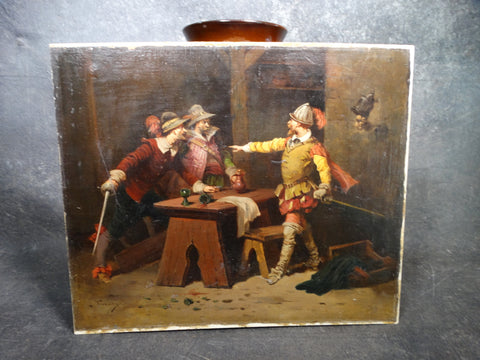 Victorian Genre Painting of an Elizabethan Tavern Scene P2737