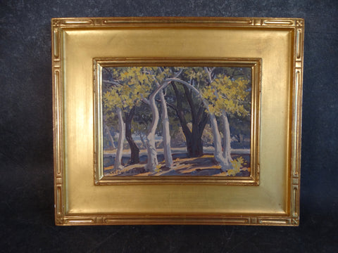 Ralph William Holmes (1876-1963) Sycamore Trees Oil on Board P2729