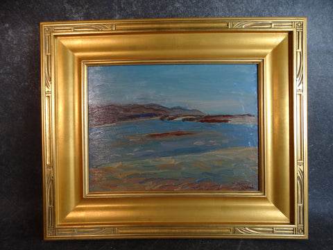 Anders Aldrin Bay View / Inlet Oil on Board 1943 P2731