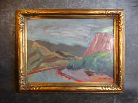 Anders Aldrin Ojai Road circa 1943 Oil on Board P2734