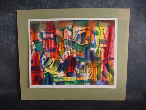 Edward Sotello Abstract Watercolor 1970 P2736