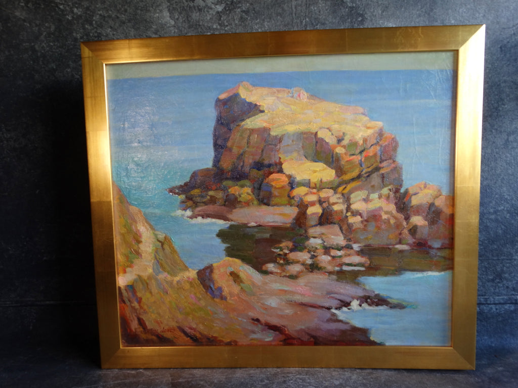 Jerome Jones - Coyote Point - Oil on Board c 1930s P2745