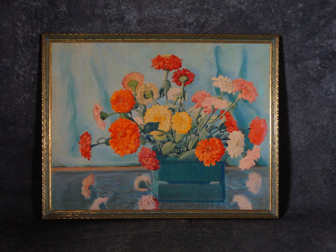 Florence Hopkins  Carnations - Watercolor circa 1930s P2848