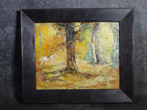 Mary Anna Lehman - Enchanted Forest - circa 1950s Oil on Board P2850