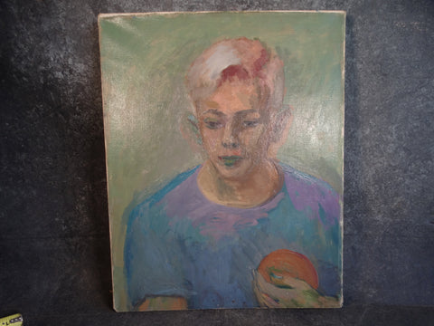 Anders Aldrin- Portrait of a Young Man, Pete Vincent -  Oil on Canvas P2866