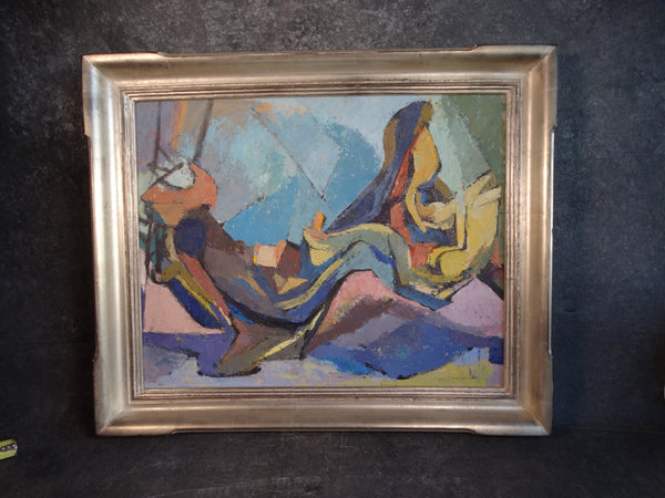 Mary Louise Fry Finley (1908-1964) - Abstract Oil on Canvas P2867