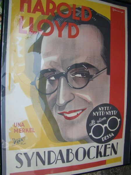 Movie Poster THE CAT'S PAW Harold Lloyd 1934