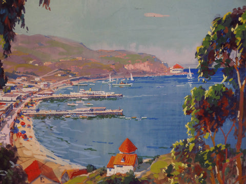 Thomas Hill McKay - View of Avalon, Catalina Island - Gouache c 1930 P2893