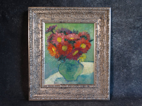 Marie Cofalka - Still Life - Flowers - Oil on Board  P2907