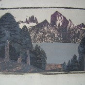 "Conrad Buff ""Mountain Lake"" Woodblock Signed"