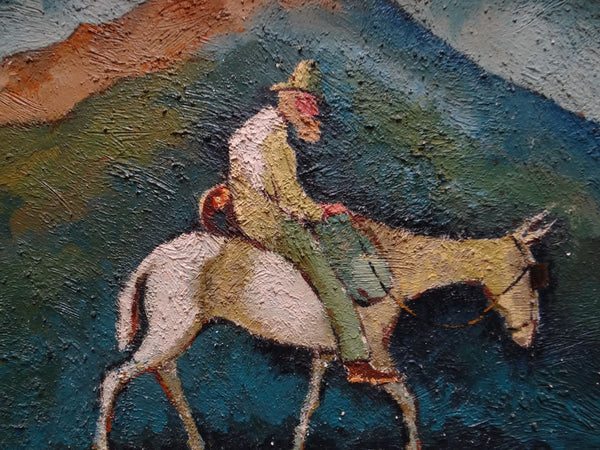 California Modernist Man on a Mule