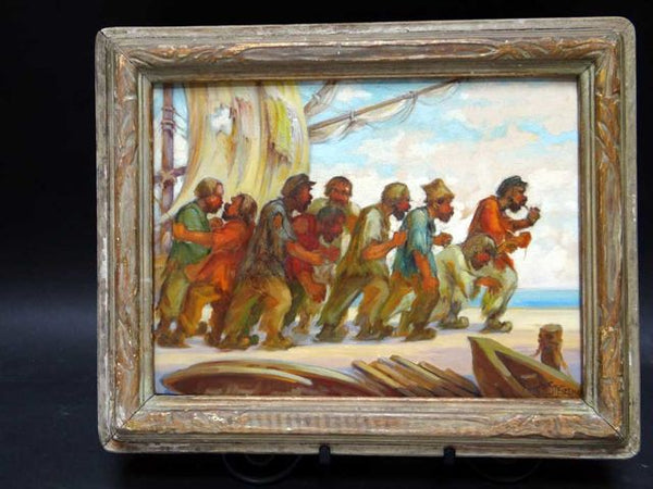 Peter Stetzenko Pirate Painting Oil on Board P453a