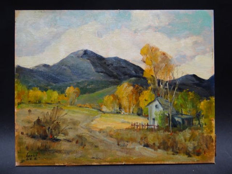Walt Lee Blaze Of Autumn Plein Air