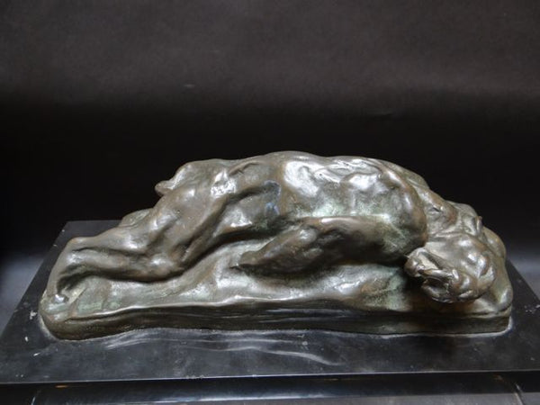 "Arthur Putnam ""Saber Tooth Tiger"" Tabletop Bronze 1910"