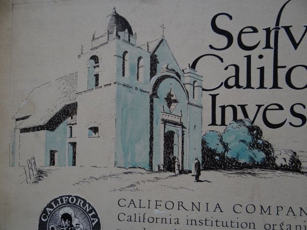 "Sam Hyde Harris Advertising Mock-up Original Art ""Serving California Investors"""