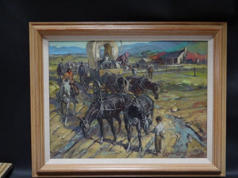 Reynold Brown COVERED WAGON LEAVE-TAKING
