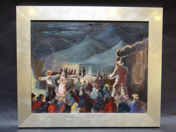Alfred C. Ybarra Circus Painting: Oil on Board P699