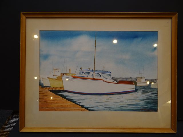 W. Andrew Jordan Watercolor of the Santa Barbara Harbor