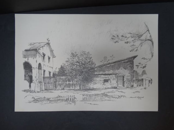 Frederic Watts Litho: Old California Country House