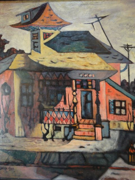 Evelyn Kane – Bunker Hill Los Angeles – Oil On Canvas 1955