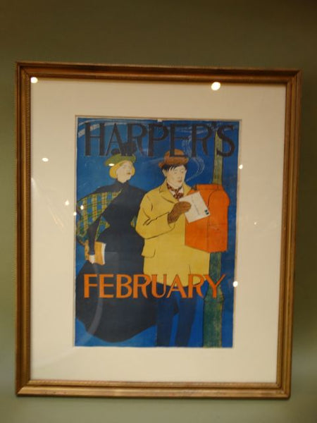 Edward Penfield Harper's Magazine Poster February 1895