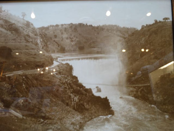 Old Don Pedro Dam 1920s Photograph