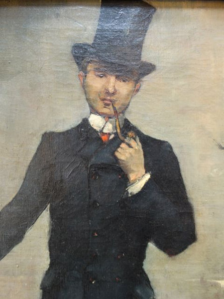 "Jean Béraud  (January 12, 1849– October 4, 1935) ""The Aesthete""  Oil On Canvas 1890s"