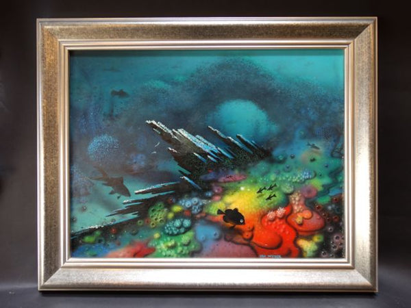 Irv Wyner Under the Sea Oil On Board