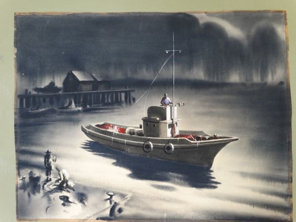 Irv Wyner: Boat Watercolor 2