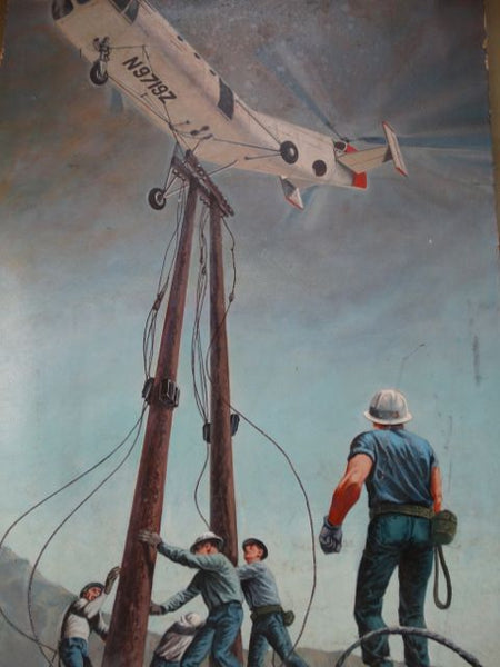 David P. Smith: Telephone Linemen and Helicopter